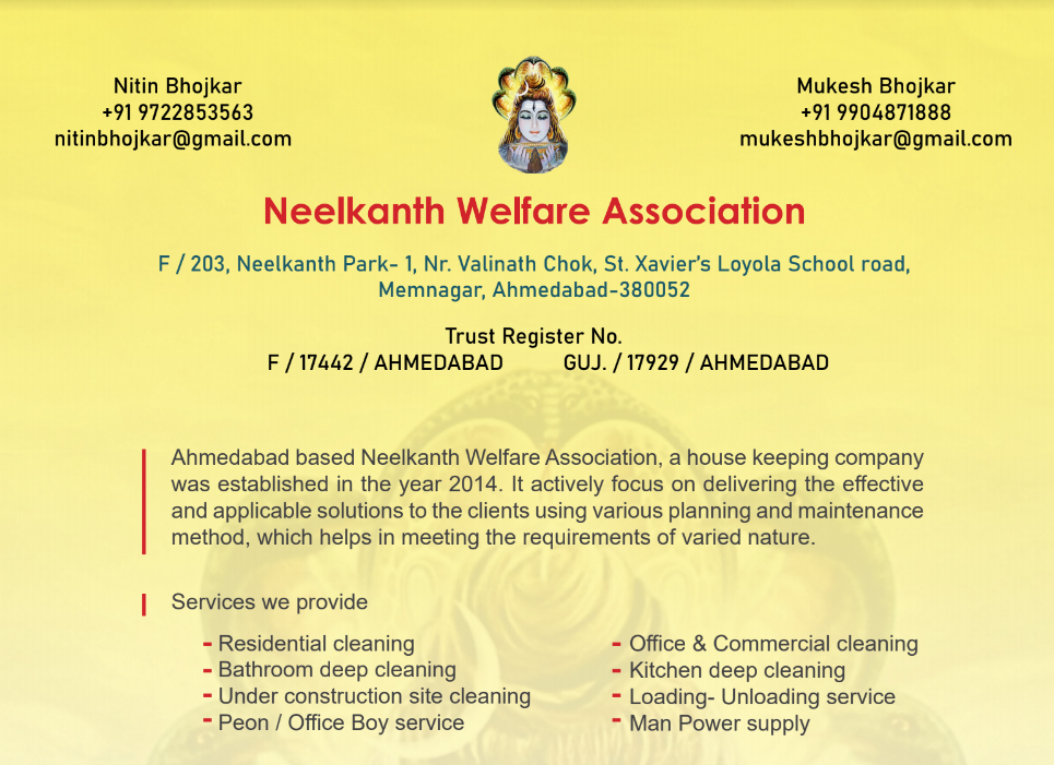 Neelkanth Welfare Association – A Housekeeping company